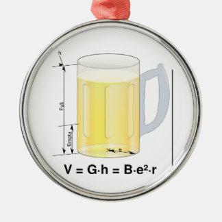 Funny Beer Formula/Equation Metal Ornament