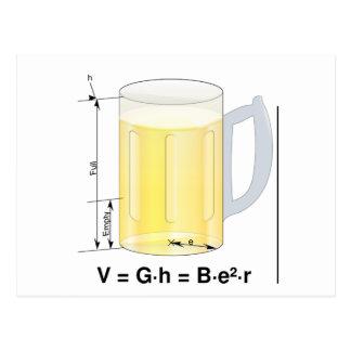 Funny Beer Formula/Equation Postcard