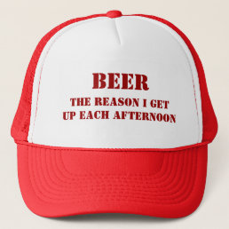 Funny BEER Hat-Customizable Trucker Hat