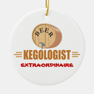 Funny Beer Keg Ceramic Ornament