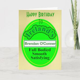 Best customized birthday cards ireland image collection funny beer label irish mans birthday card m4hsunfo