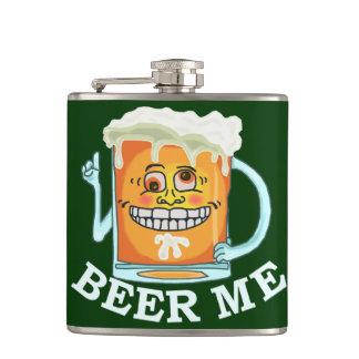 Funny Beer Me Cartoon Drawing Flask