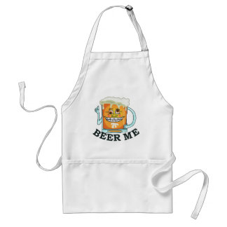 Funny Beer Me Cartoon Mug Adult Apron