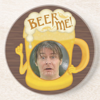 Funny Beer Me Drinking Humor | Personalized Photo Drink Coaster