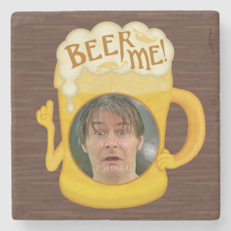 Funny Beer Me Drinking Humor | Personalized Photo Stone Coaster