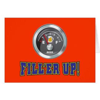 Funny - Beer Meter Fill'er Up Greeting Card