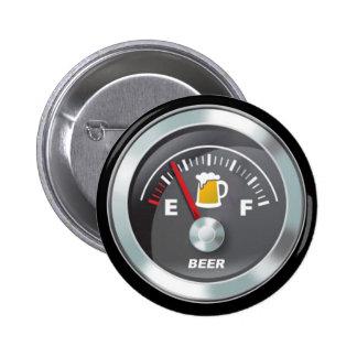 Funny - Beer Meter Fill'er Up Gauge Pinback Button