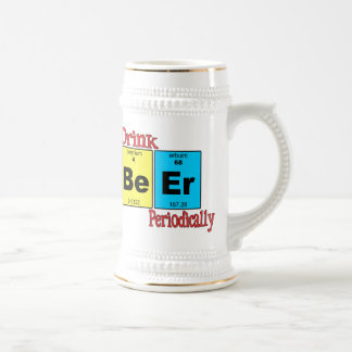 Funny Beer Mug: I Drink Beer Periodically Beer Stein