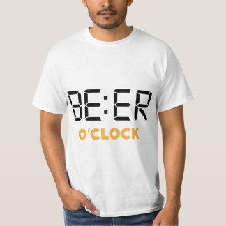 Funny Beer o'clock digital clock T-Shirt