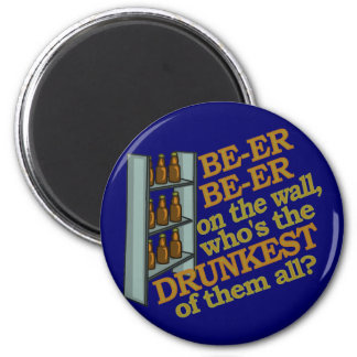 Funny Beer on the Wall 2 Inch Round Magnet