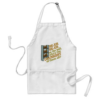Funny Beer on the Wall Adult Apron