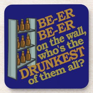 Funny Beer on the Wall Beverage Coaster