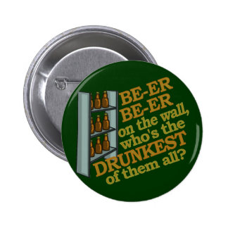 Funny Beer on the Wall 2 Inch Round Button