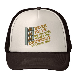 Funny Beer on the Wall Trucker Hats