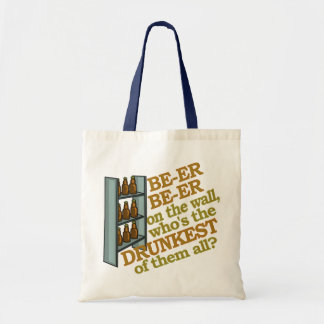Funny Beer on the Wall Tote Bag