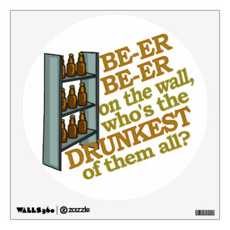 Funny Beer on the Wall Wall Sticker