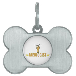 Funny Beer Pet Name Tag