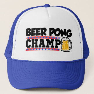 Funny Beer Pong Champ hat