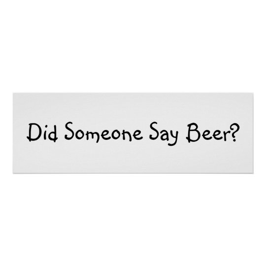 Funny Beer Quote Poster