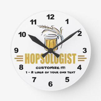 Funny Beer Round Clock