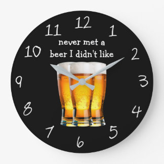 Funny Beer Themed Man Cave Clocks