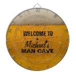 "Funny Beer themed ""man cave"" dart board Dart Board"