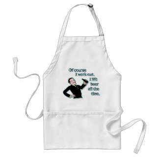 Funny Beer Work Out Humor Retro Adult Apron