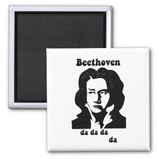 Funny Beethoven 2 Inch Square Magnet