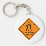 Funny Being Monitored Key Chains
