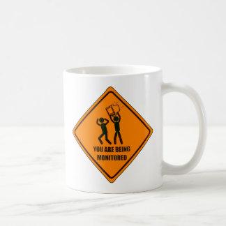Funny Being Monitored Classic White Coffee Mug