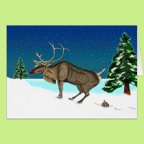 Funny Belated Christmas, Deer Poop, Nature Called Card