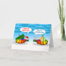 Funny Belated Christmas, Slow Turtle with Tree Holiday Card