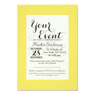 Funny Bello Hello Typography in Yellow and Black Card