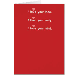 Funny Belly Button Lint Valentine's Day Greeting Card