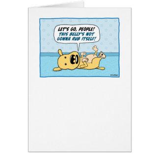 Funny Belly Rub Dog Card