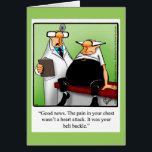 """Funny &quot;Belt Bucke&quot; Get Well Greeting Card<br><div class=""""desc"""">Enjoy spreading the laughter with this hilarious get well greeting card by artist Bill Abbott; send some laughs along with your wishes for a speedy recovery. Bill Abbott&#39;s cartoon &quot;Spectickles&quot; the internationally syndicated comic has also appeared in Hallmark U.K.,  Reader&#39;s Digest and other fine magazines!</div>"""