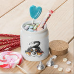 "Funny Bernese Mountain Dog Cartoon Candy Jar<br><div class=""desc"">Funny Bernese Mountain Dog cartoon for dog lovers.</div>"