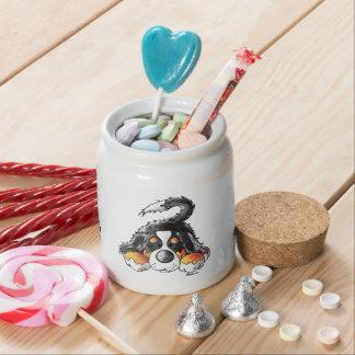 Funny Bernese Mountain Dog Cartoon Candy Jars