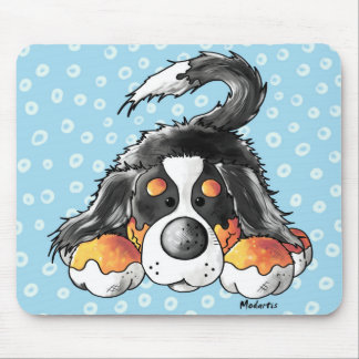 Funny Bernese Mountain Dog Cartoon Mouse Pad