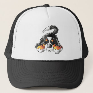 Funny Bernese Mountain Dog Cartoon Trucker Hat