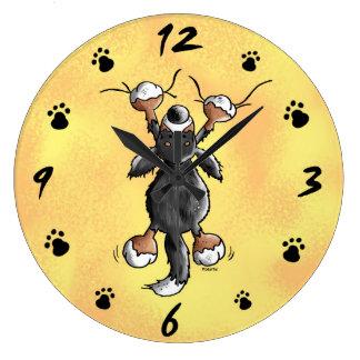 Funny Bernese Mountain Dog Wall Clock
