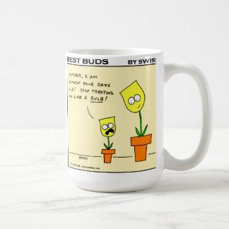 Funny Best Buds Gardening Cartoon Mug by Swiss