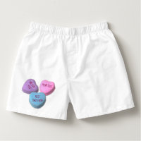 Funny Best Dad Valentine Candy Heart Custom Text Boxers