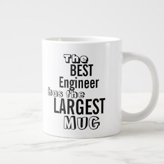 Funny Best ENGINEER Big Mug Office Quote