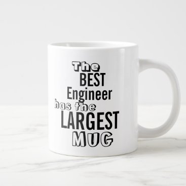 Professional Business Funny Best ENGINEER Big Mug Office Quote