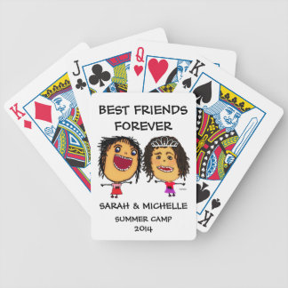 Funny Best Friends Cartoon Bicycle Playing Cards