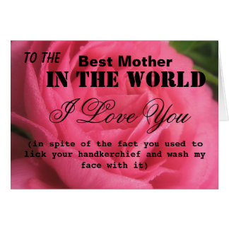 Funny Best Mother Greeting Card