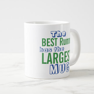 Funny Best RUNNER Quote Big Mug - Running Humor 20 Oz Large Ceramic Coffee Mug