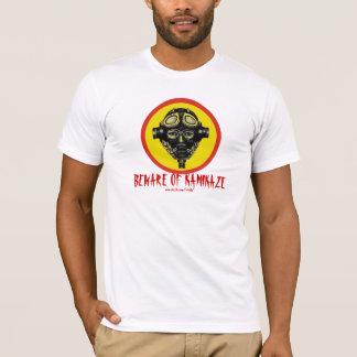 Funny beware of kamikaze graphic art t-shirt