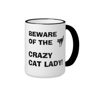 Funny Beware of the Crazy Cat Lady Mug